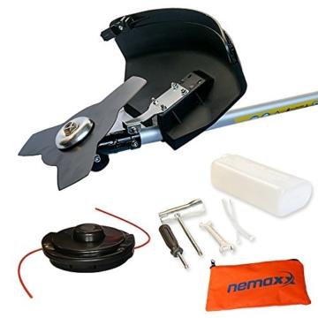 Nemaxx MT22 2in1 Benzin Gartenwerkzeug Motorsense - leistungsstarkes Multitool mit 52ccm, 3,0 PS Zweitaktmotor - Aufsätze für Grasschneider und Heckenschere -
