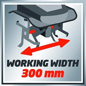 Einhell Elektro Bodenhacke GC-RT 7530 (750 W, 30 cm Arbeitsbreite, 20 cm Arbeitstiefe, ergonomischer und klappbarer Führungsholm) -