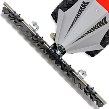 HECHT Benzin-Balkenmäher 587 Wiesen-Mäher (Schnittbreite 87 cm, Stufenlose-Schnitthöhenverstellung 15-90 mm, Radantrieb) -